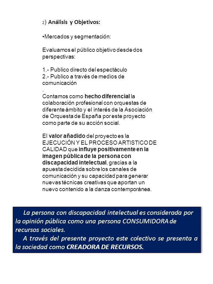 2) Análisis y Objetivos: