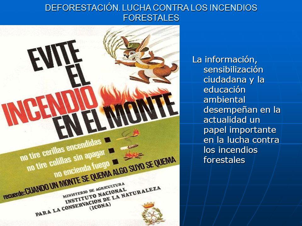DEFORESTACIÓN. LUCHA CONTRA LOS INCENDIOS FORESTALES