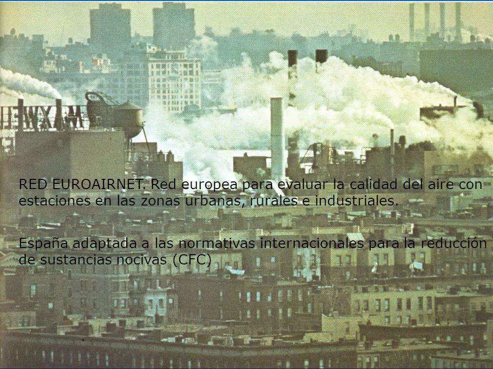 RED EUROAIRNET. Red europea para evaluar la calidad del aire con estaciones en las zonas urbanas, rurales e industriales.