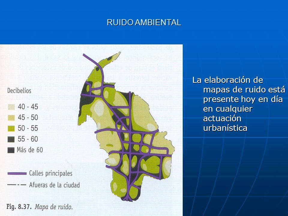 RUIDO AMBIENTAL La elaboración de mapas de ruido está presente hoy en día en cualquier actuación urbanística.