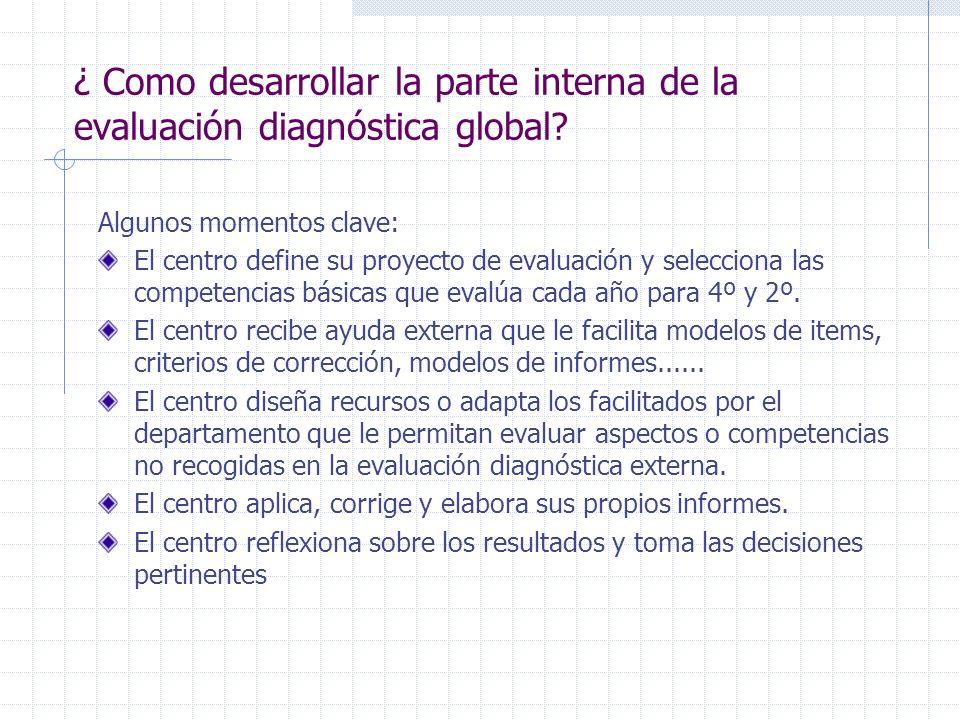 ¿ Como desarrollar la parte interna de la evaluación diagnóstica global