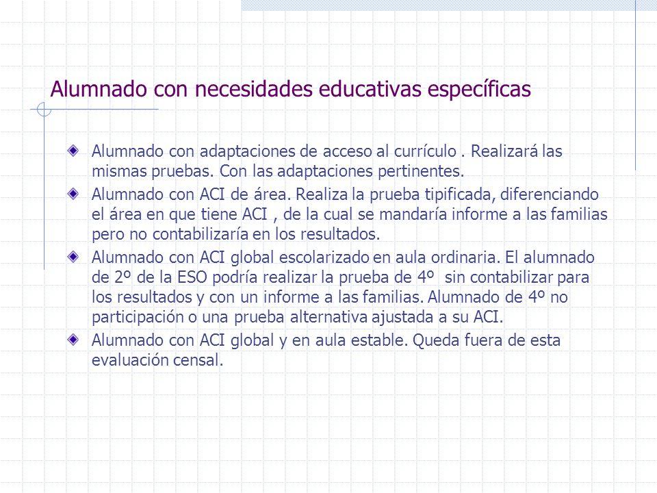 Alumnado con necesidades educativas específicas