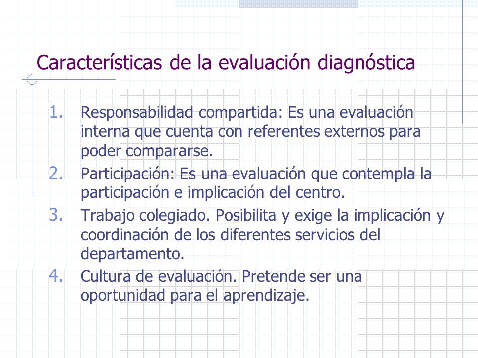 Características de la evaluación diagnóstica