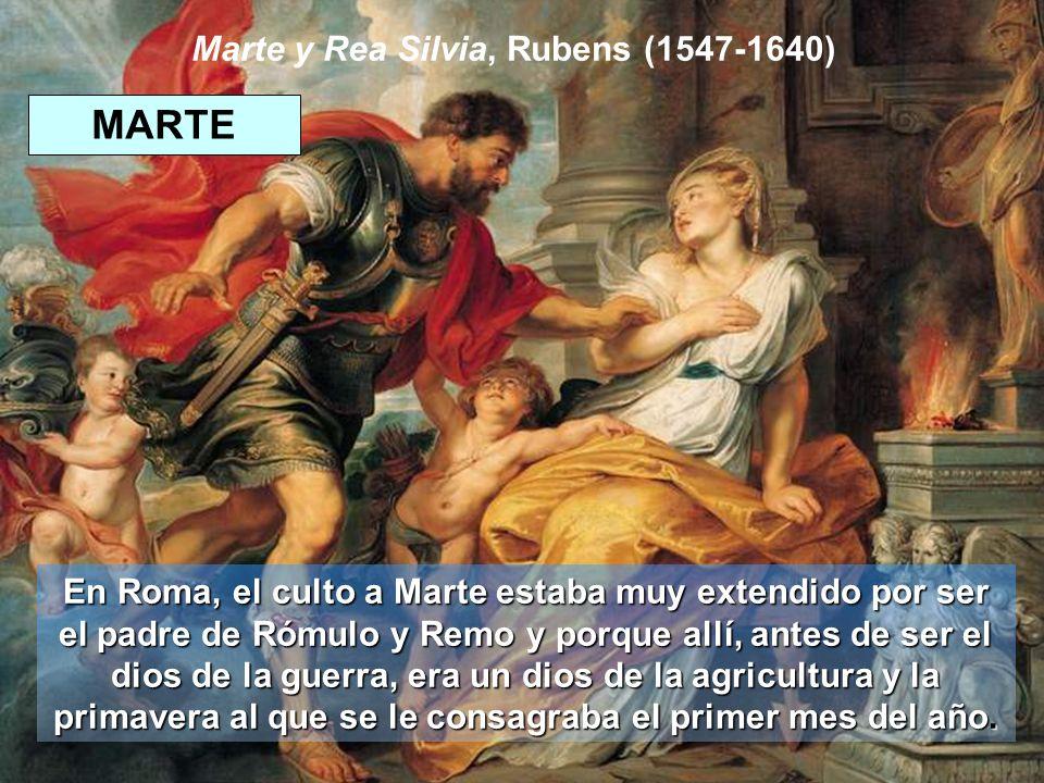 Marte y Rea Silvia, Rubens (1547-1640)