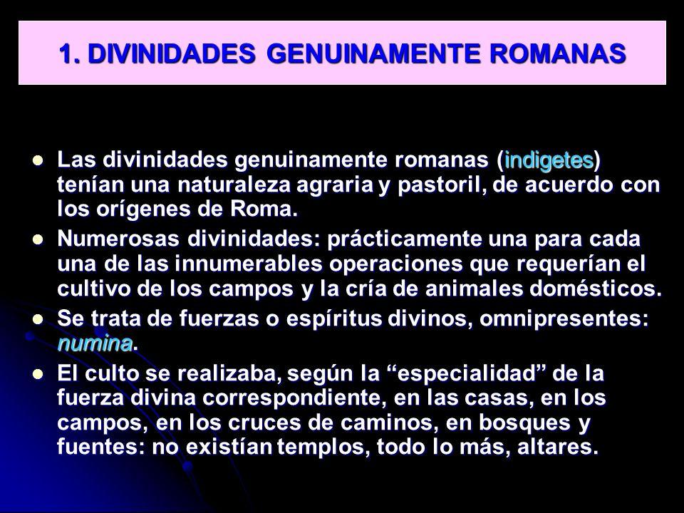 1. DIVINIDADES GENUINAMENTE ROMANAS