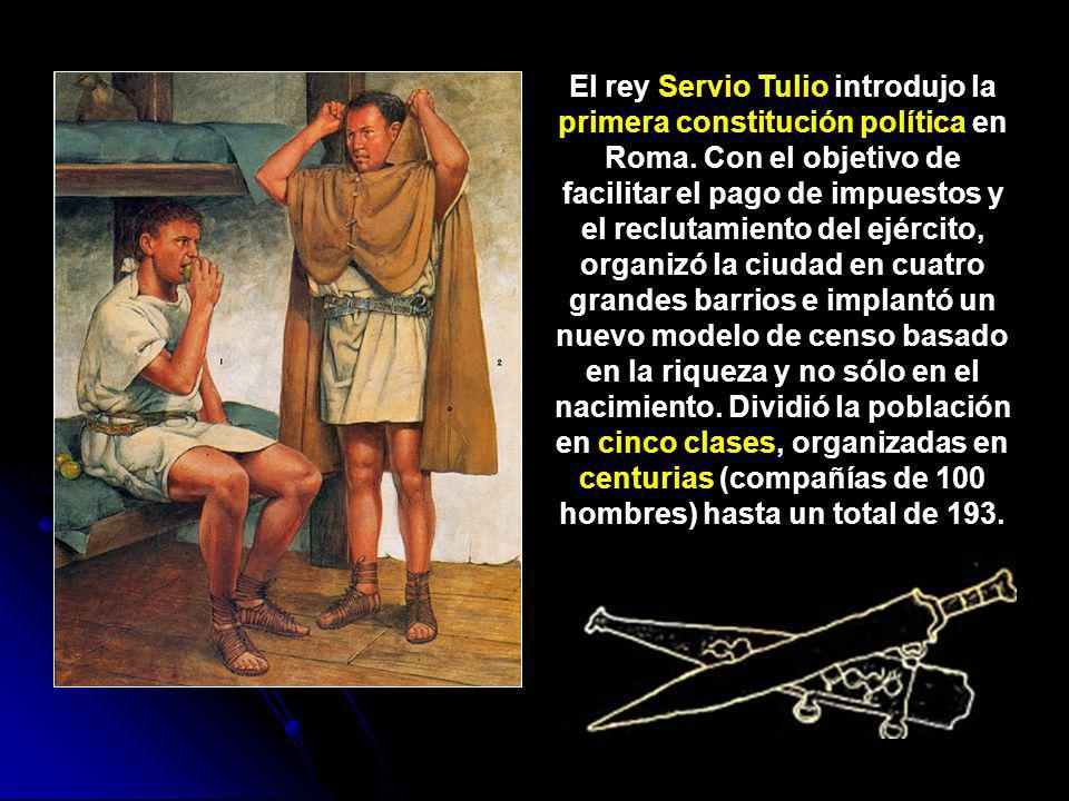 El rey Servio Tulio introdujo la primera constitución política en Roma
