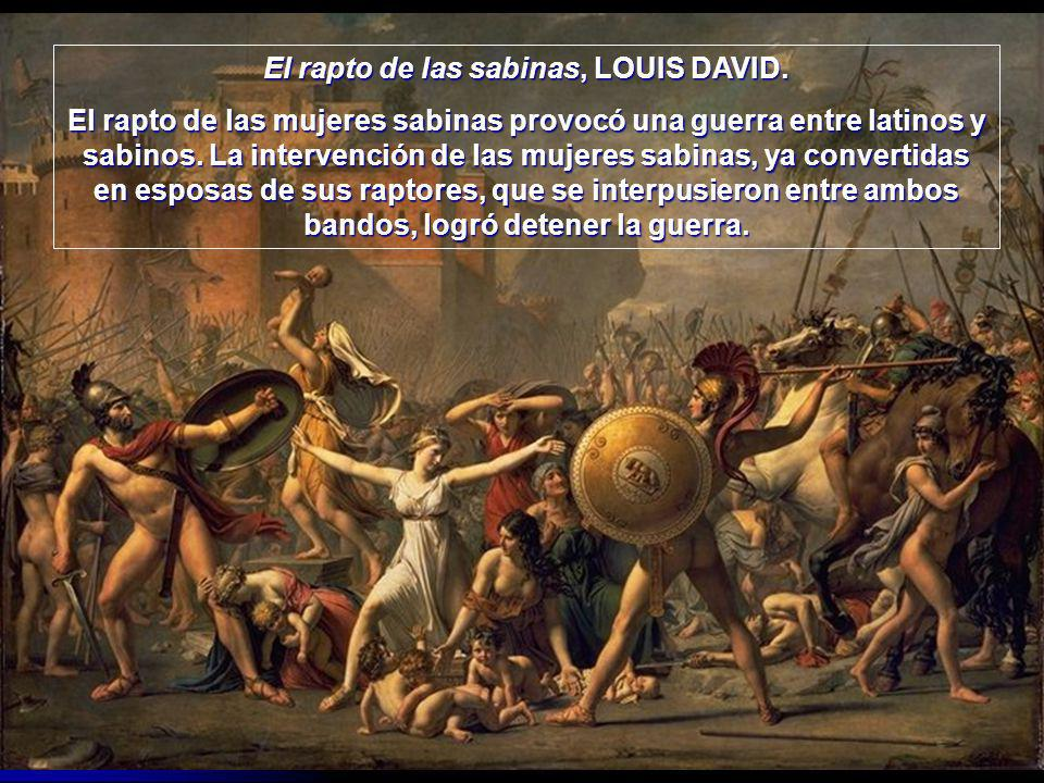 El rapto de las sabinas, LOUIS DAVID.