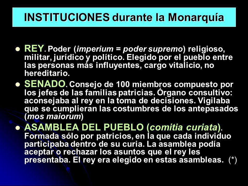 INSTITUCIONES durante la Monarquía