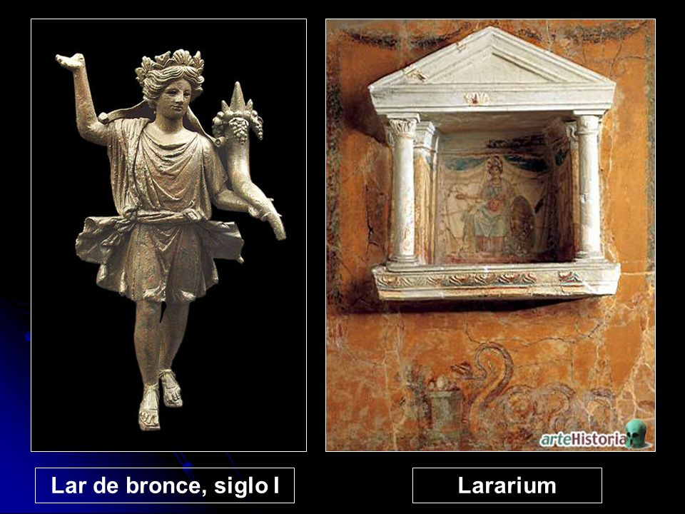 Lar de bronce, siglo I Lararium