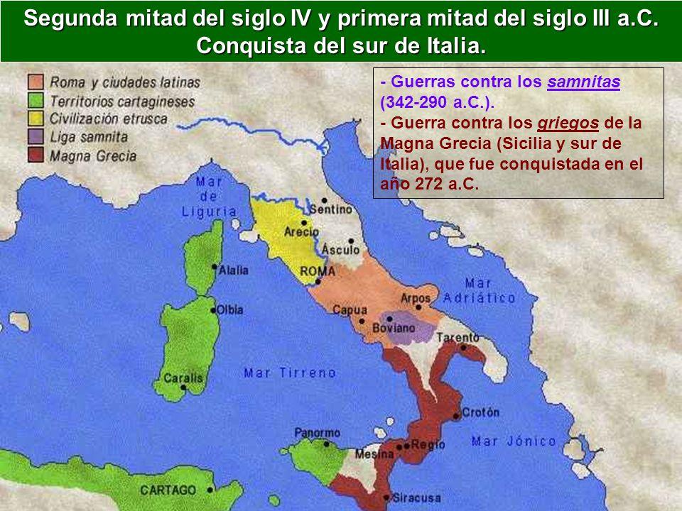 Segunda mitad del siglo IV y primera mitad del siglo III a. C