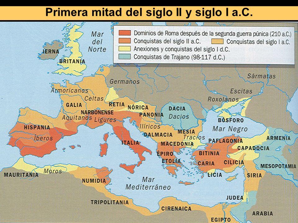 Primera mitad del siglo II y siglo I a.C.