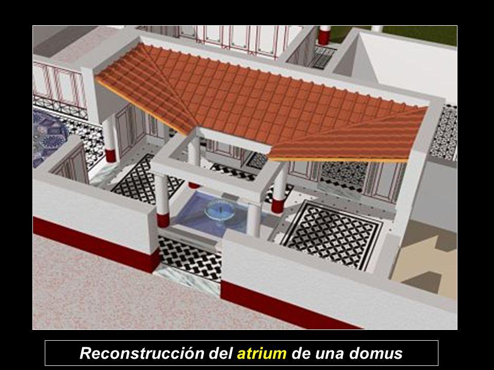 Reconstrucción del atrium de una domus