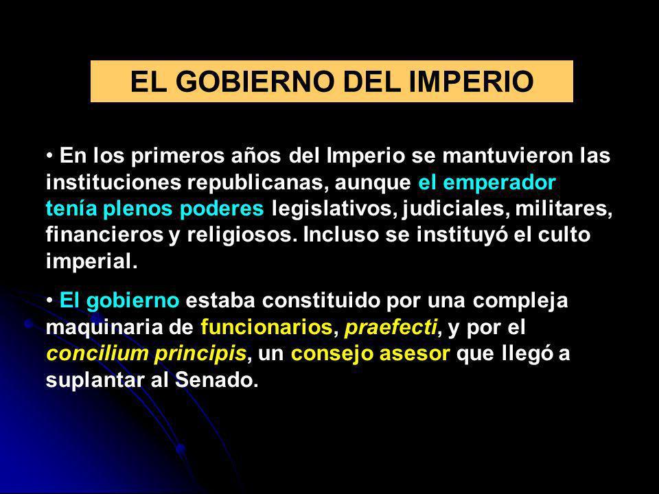 EL GOBIERNO DEL IMPERIO