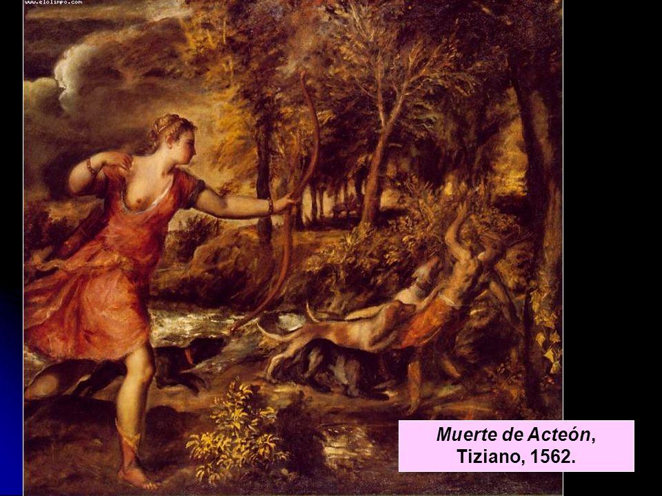 Muerte de Acteón, Tiziano, 1562.