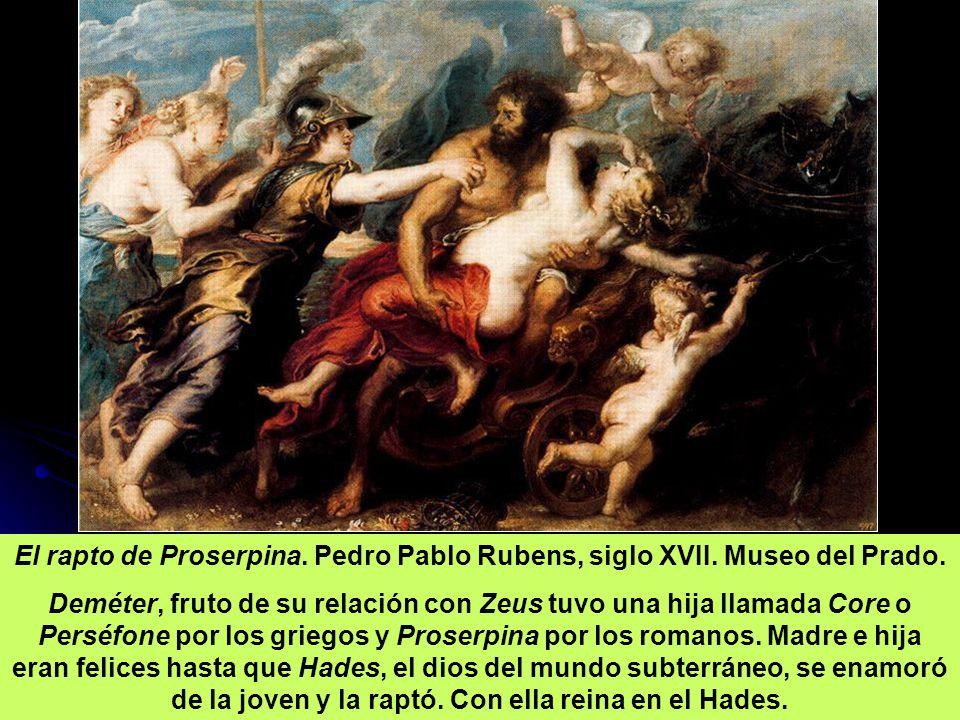 El rapto de Proserpina. Pedro Pablo Rubens, siglo XVII. Museo del Prado.