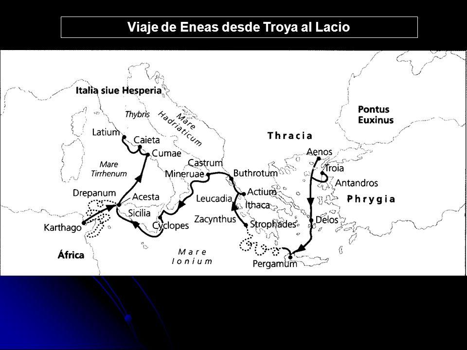 Viaje de Eneas desde Troya al Lacio