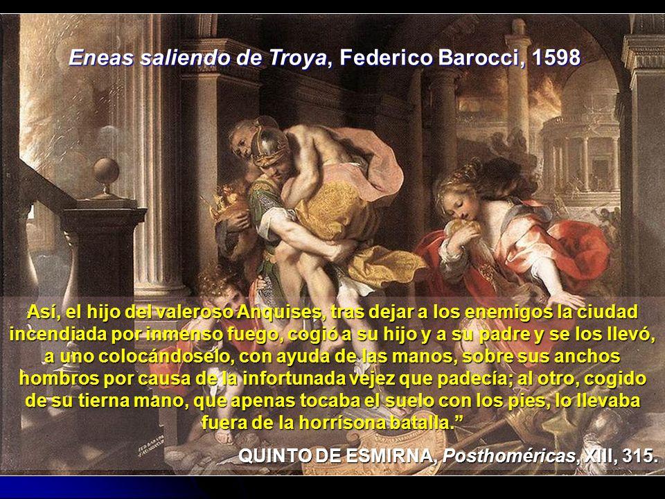 Eneas saliendo de Troya, Federico Barocci, 1598