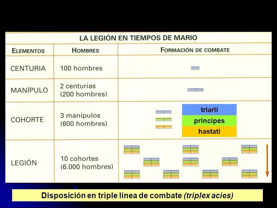 Disposición en triple línea de combate (triplex acies)