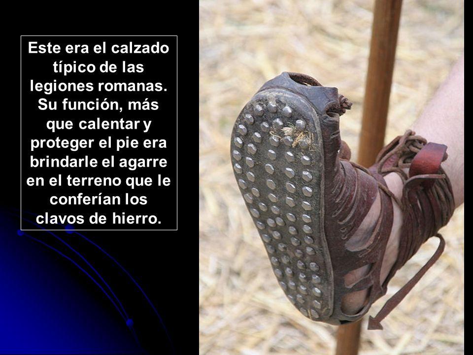 Este era el calzado típico de las legiones romanas