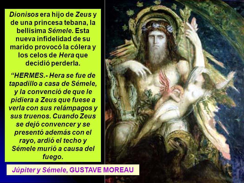 Júpiter y Sémele, GUSTAVE MOREAU