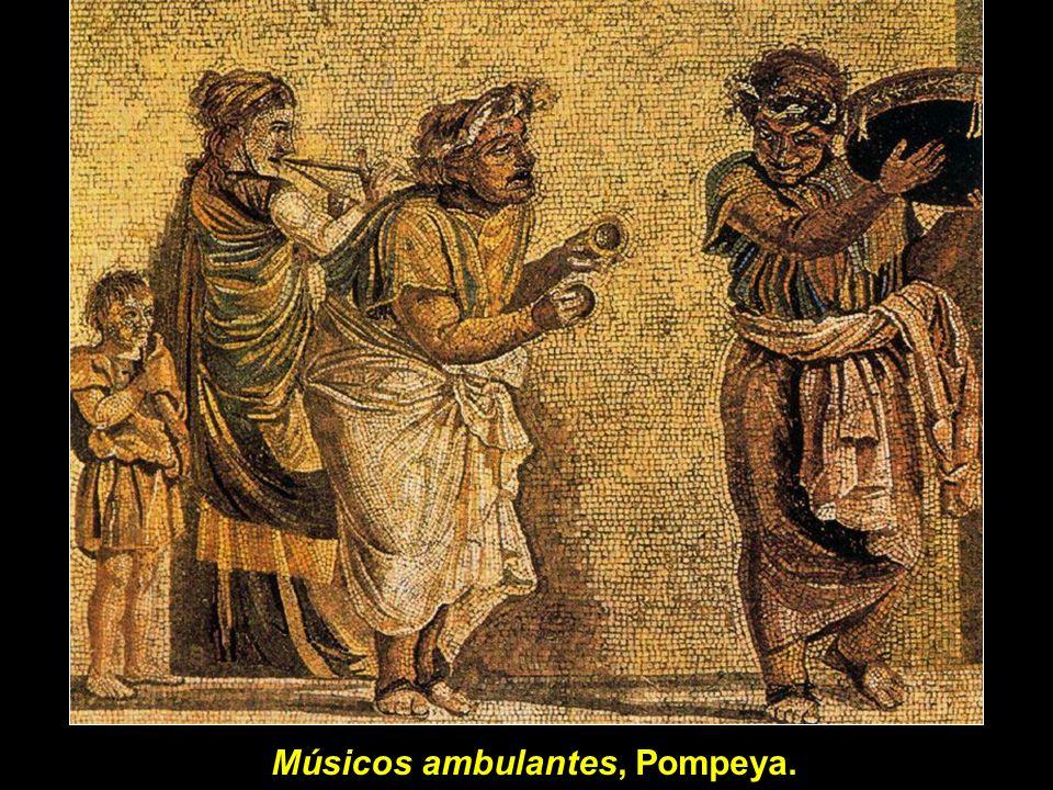Músicos ambulantes, Pompeya.