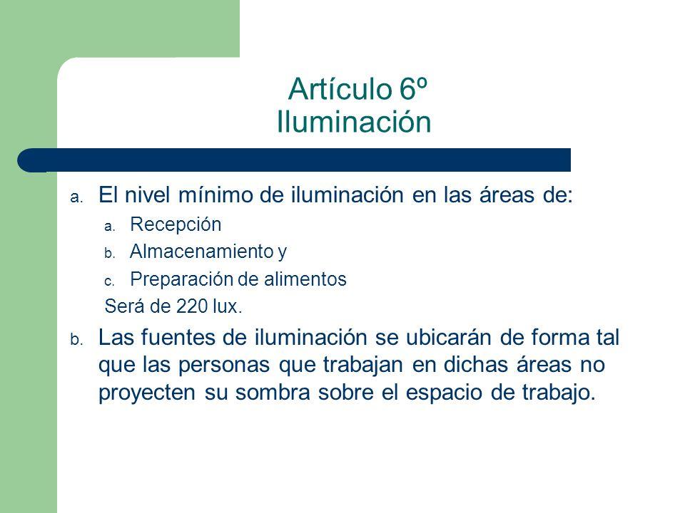 Artículo 6º Iluminación