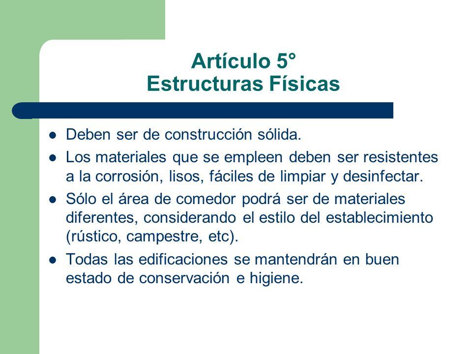 Artículo 5° Estructuras Físicas
