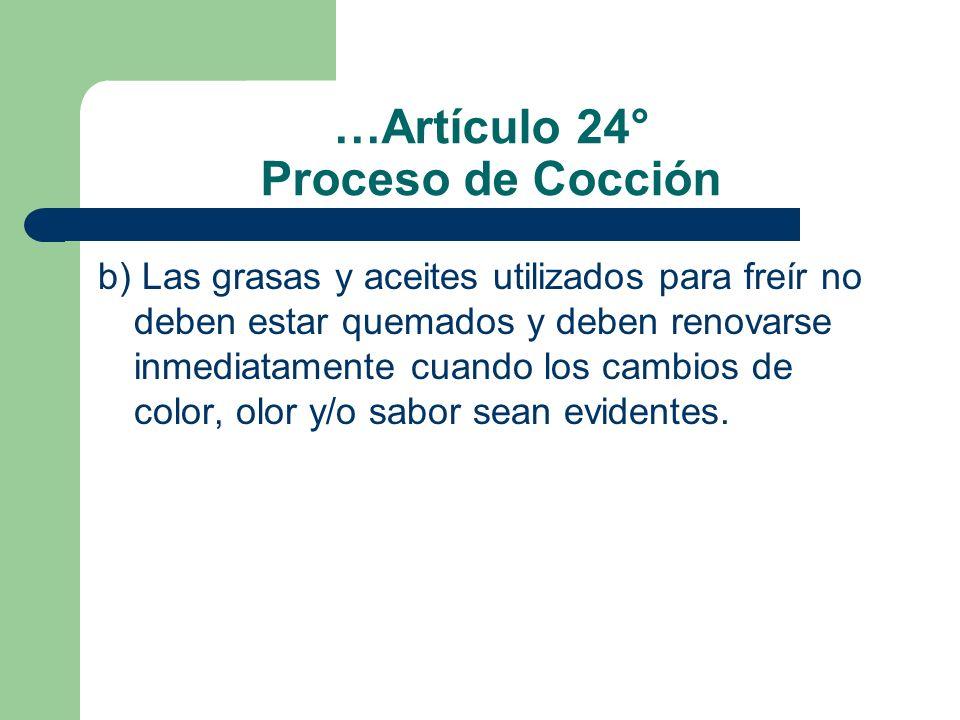 …Artículo 24° Proceso de Cocción