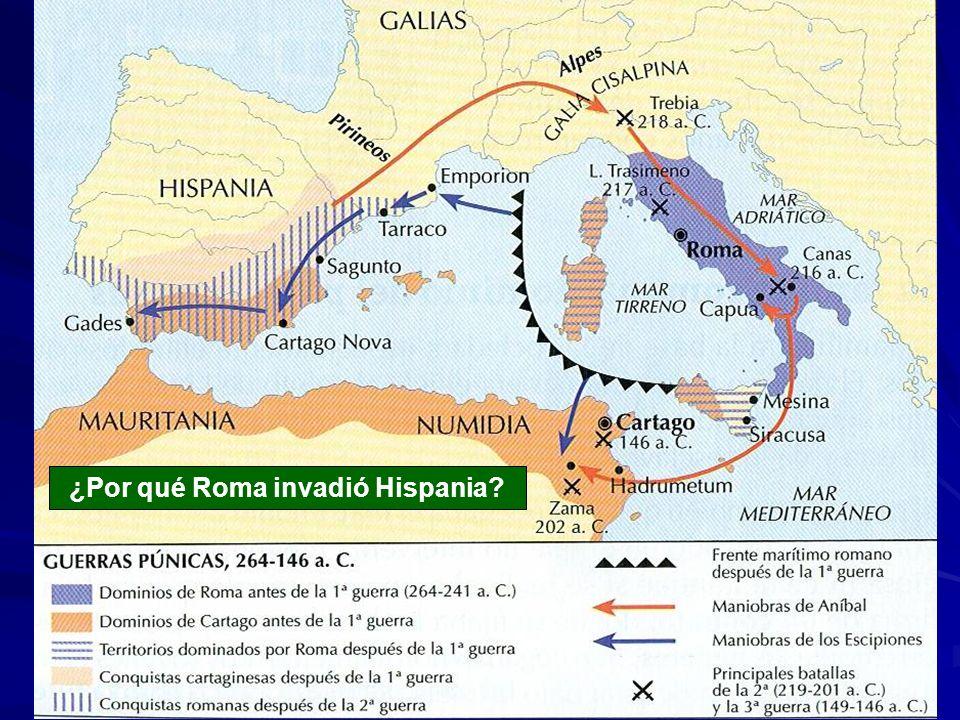 ¿Por qué Roma invadió Hispania