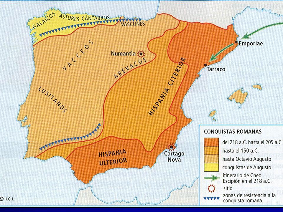 Tras la derrota cartaginesa, Roma inició la ocupación de la península Ibérica en un proceso que duró unos dos siglos, con continuos enfrentamientos con los pueblos indígenas.