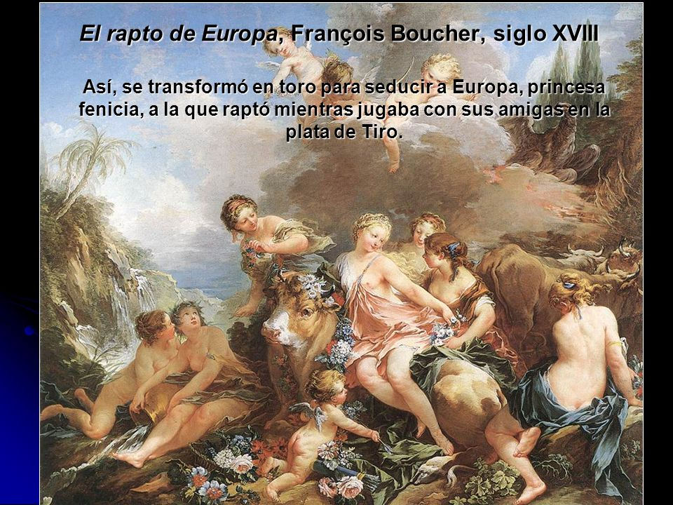El rapto de Europa, François Boucher, siglo XVIII