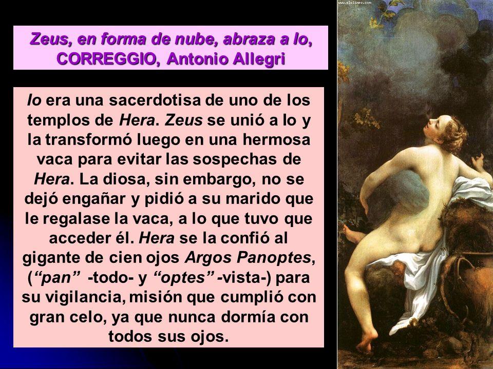 Zeus, en forma de nube, abraza a Io, CORREGGIO, Antonio Allegri