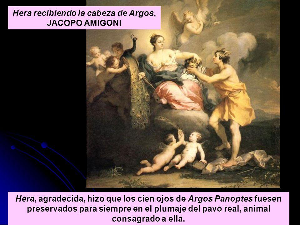 Hera recibiendo la cabeza de Argos, JACOPO AMIGONI