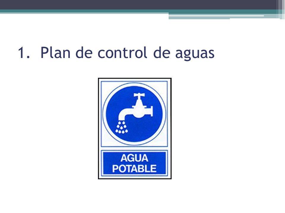 Plan de control de aguas