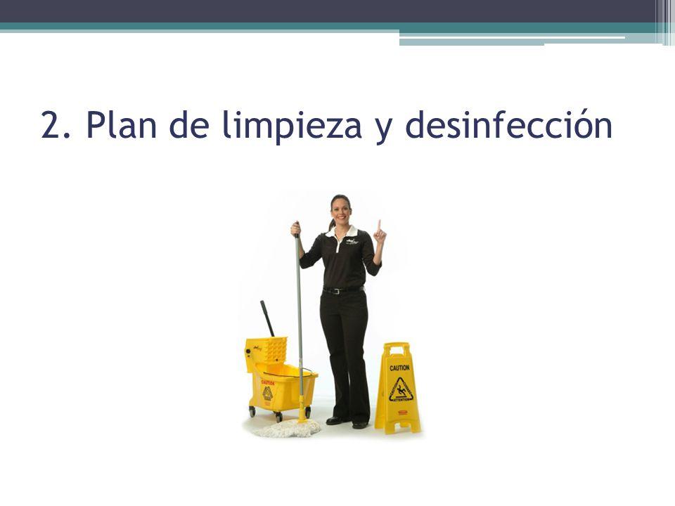 2. Plan de limpieza y desinfección