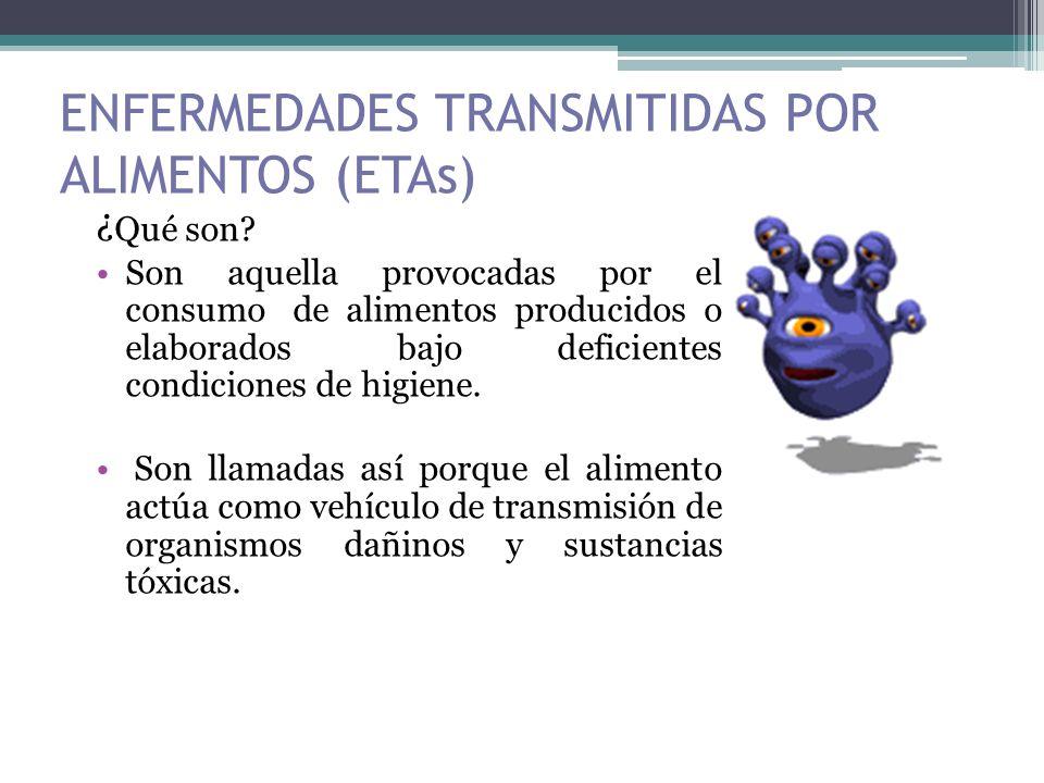 ENFERMEDADES TRANSMITIDAS POR ALIMENTOS (ETAs)