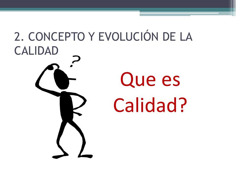 2. CONCEPTO Y EVOLUCIÓN DE LA CALIDAD