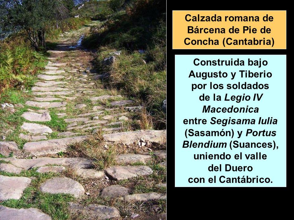 Calzada romana de Bárcena de Pie de Concha (Cantabria)
