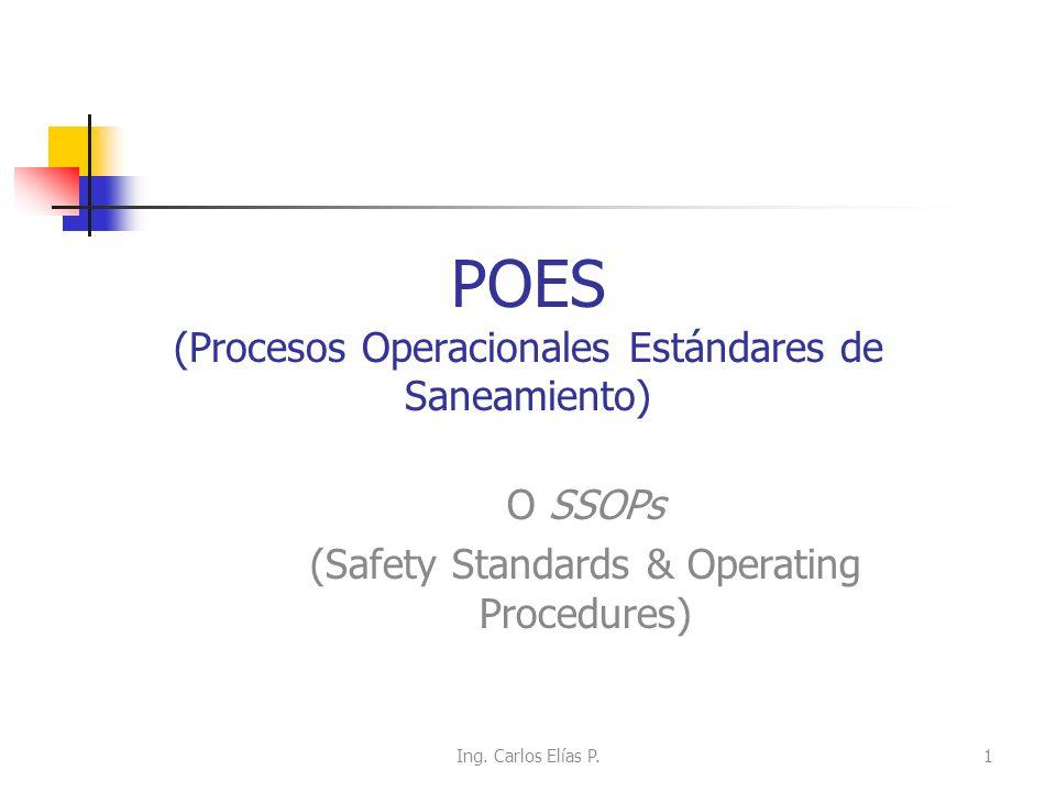 POES (Procesos Operacionales Estándares de Saneamiento)