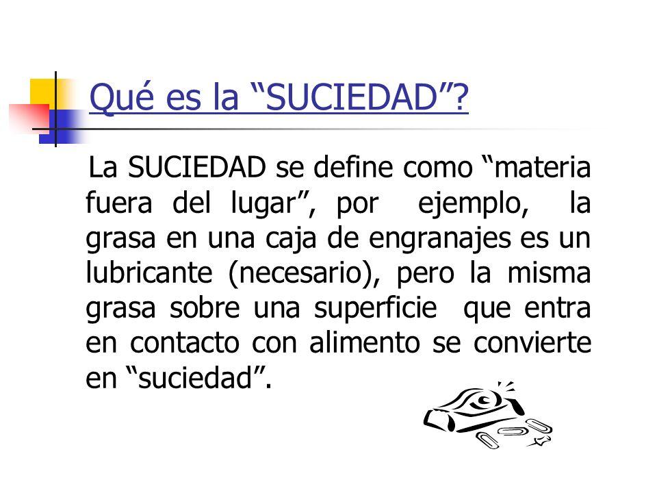 Qué es la SUCIEDAD