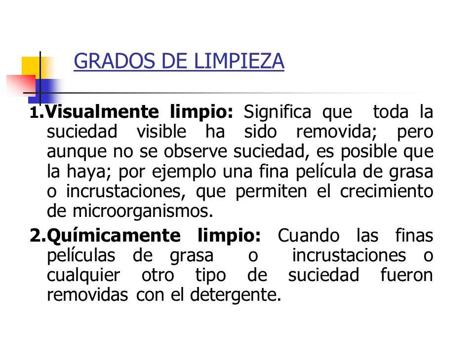 GRADOS DE LIMPIEZA