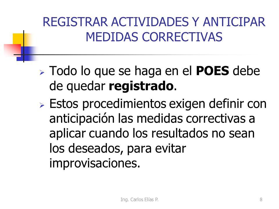 REGISTRAR ACTIVIDADES Y ANTICIPAR MEDIDAS CORRECTIVAS