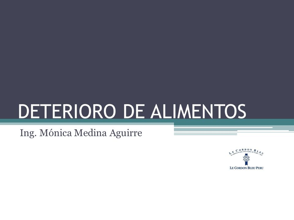 DETERIORO DE ALIMENTOS