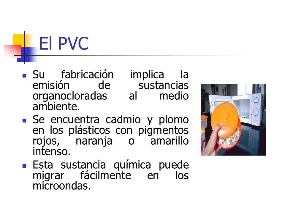 El PVC Su fabricación implica la emisión de sustancias organocloradas al medio ambiente.