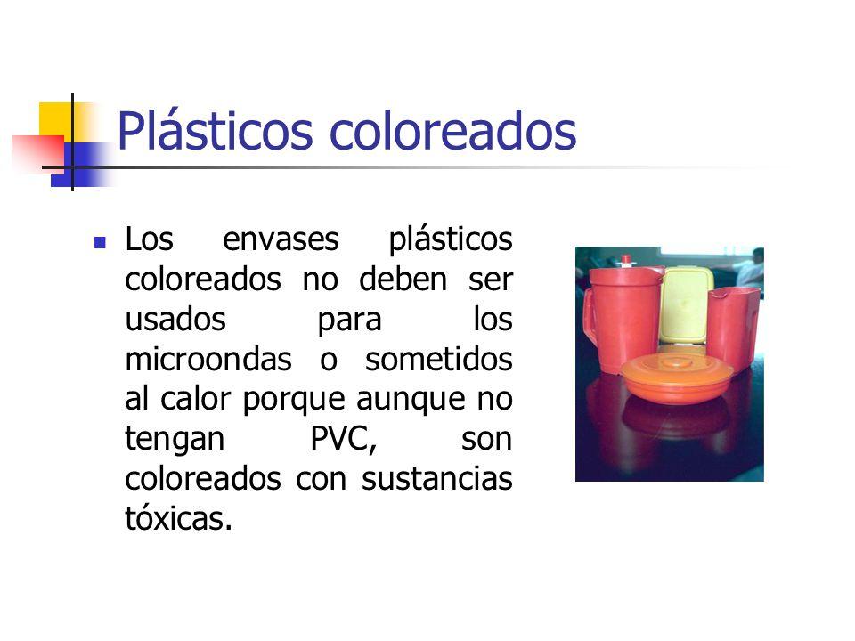 Plásticos coloreados