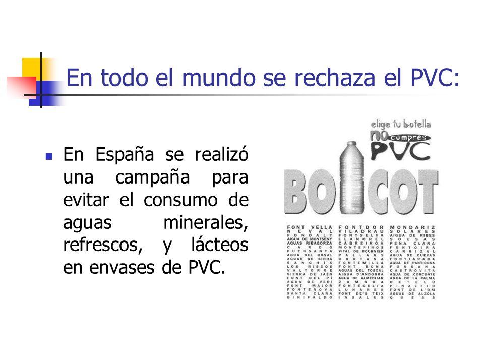 En todo el mundo se rechaza el PVC: