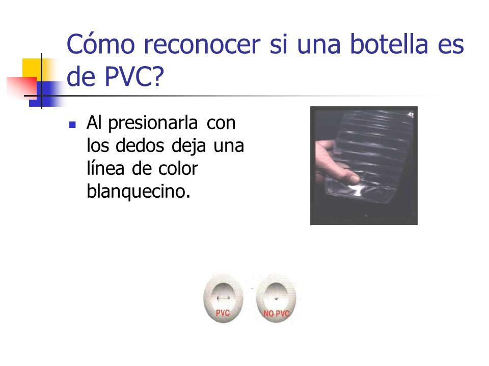 Cómo reconocer si una botella es de PVC