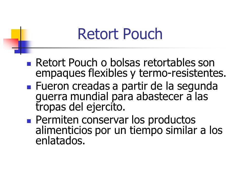 Retort Pouch Retort Pouch o bolsas retortables son empaques flexibles y termo-resistentes.