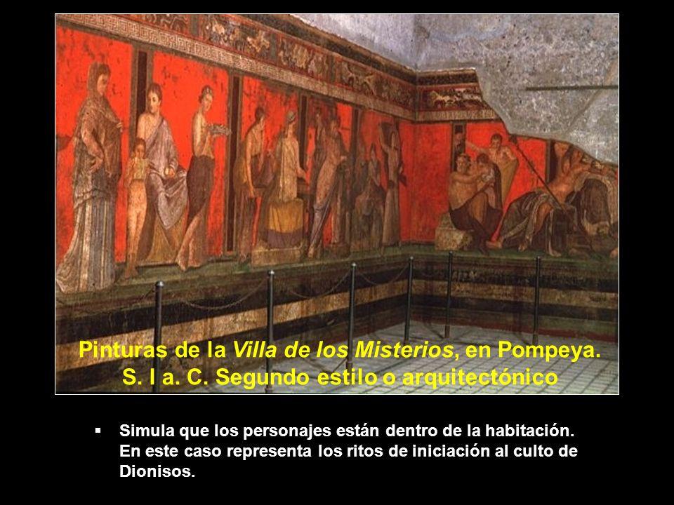 Pinturas de la Villa de los Misterios, en Pompeya. S. I a. C