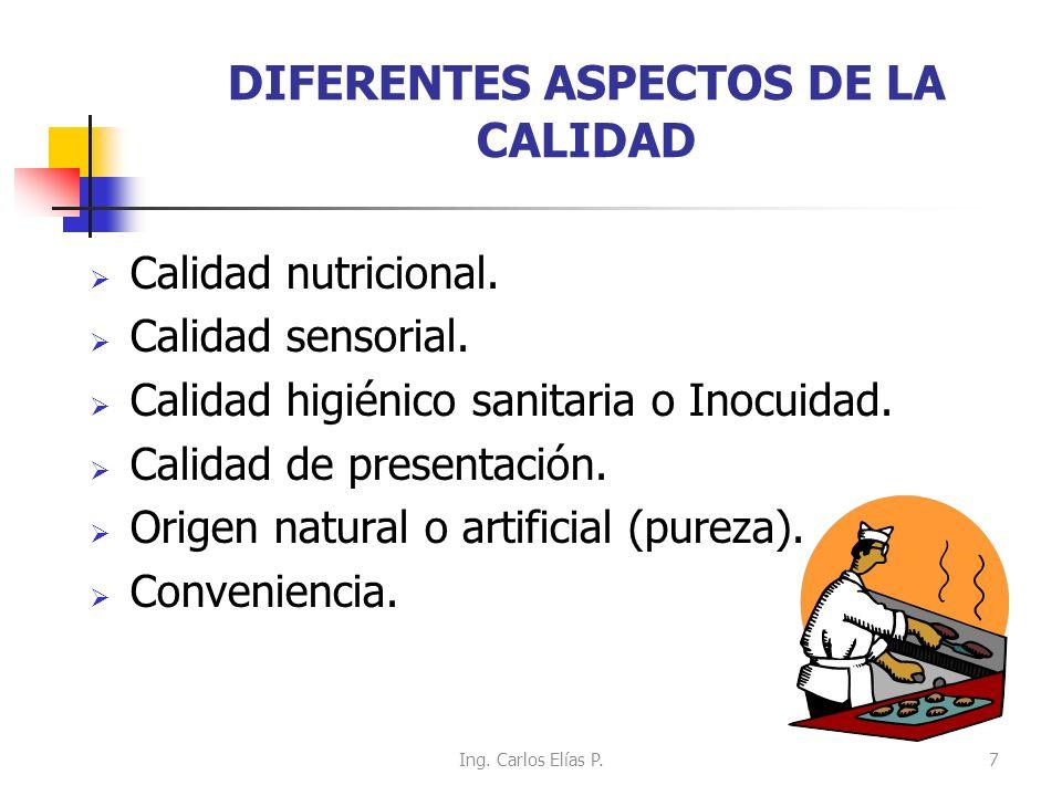DIFERENTES ASPECTOS DE LA CALIDAD